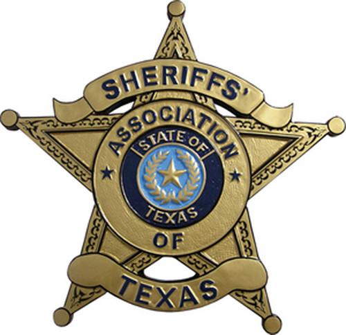 Sheriffs' Association of Texas Plaque - Blue Seal Design (All sizes)