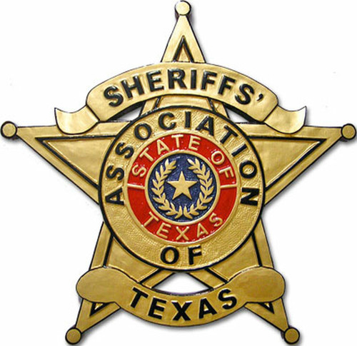 Sheriffs' Association of Texas Plaque - Red Seal Design (All sizes)