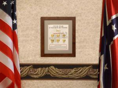 Confederate Civil War Button Set Collectible
