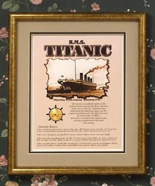 Titanic Commemorative Button Set - Collectible