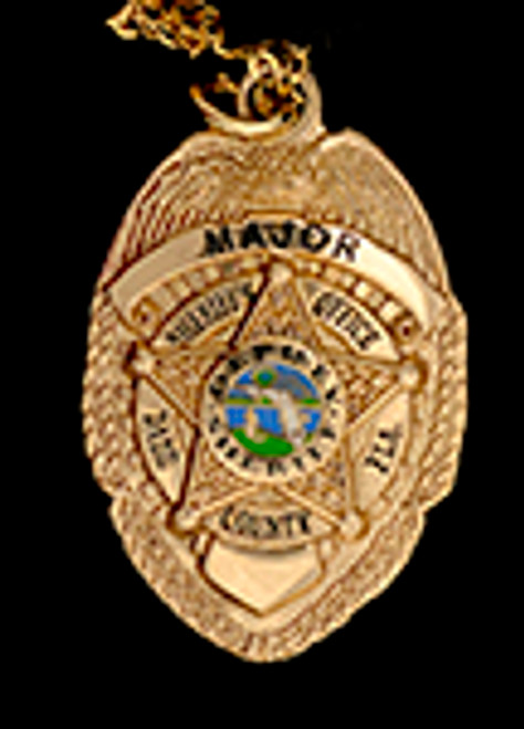DADE COUNTY SHERIFF'S OFFICE MAJOR BADGE CHARM ON CHAIN