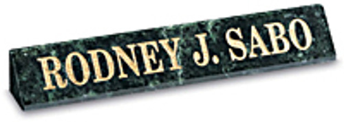Integrity Nameplate #115 - Green Marble