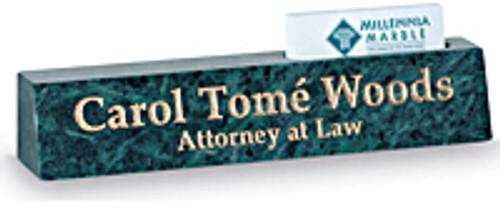 Nameplate Cardholder #120 - Green Marble
