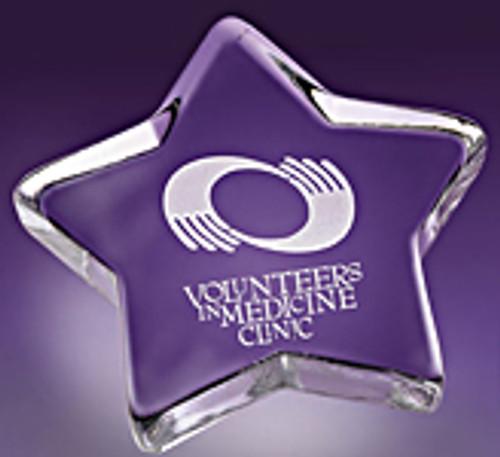 Star Paperweight #509 - Machine Made Glass