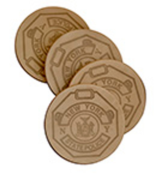 NEW YORK STATE POLICE COASTER (LEATHER)
