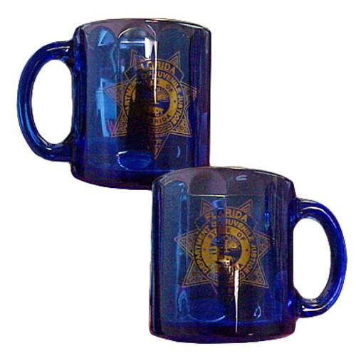 DJJ Beveled Glass Mug
