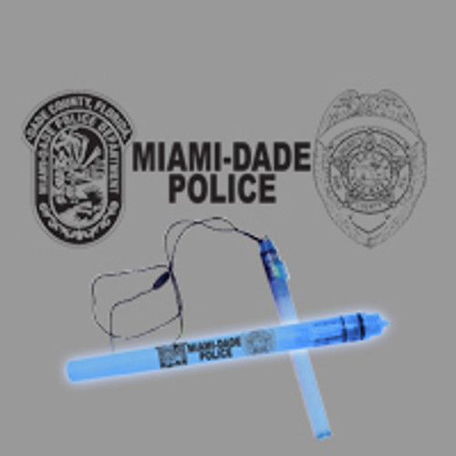 Miami-Dade Police Department Blue Glow Stick