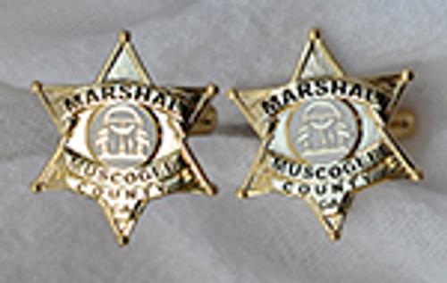 MUSCOGEE COUNTY GEORGIA MARSHALS BADGE CUFFLINKS