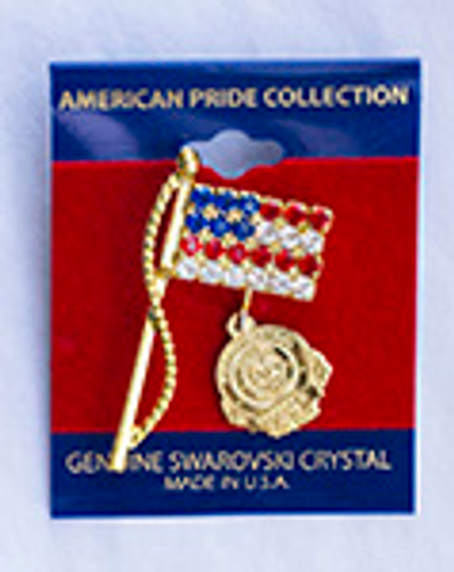 American Flag with Florida Highway Patrol Charm