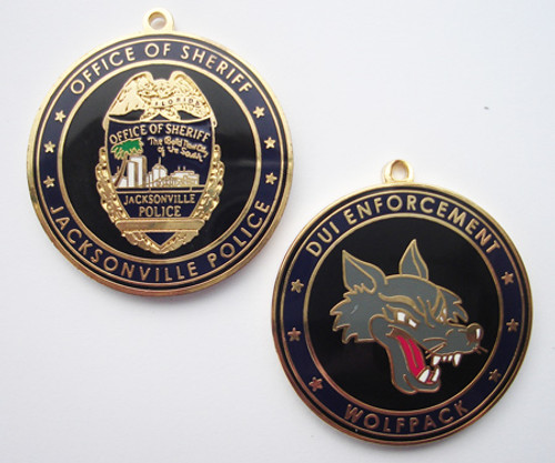 Jacksonville Police Wolfpach Keytag