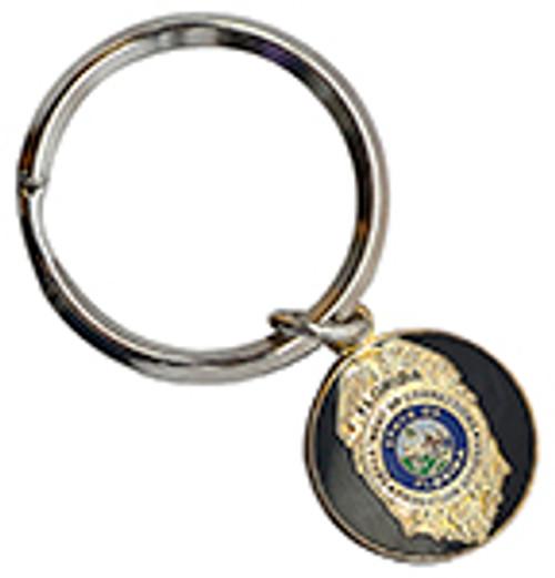 VIP FLORIDA DEPARTMENT OF CORRECTIONS PROBATION BADGE KEY RING