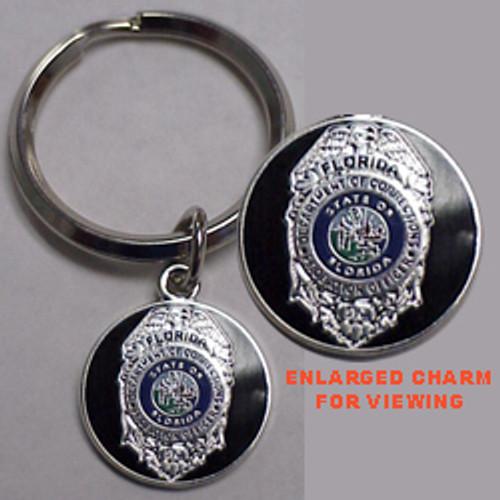 VIP Florida DOC Probation Silver Keyring