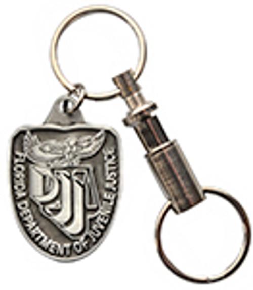FLORIDA DEPARTMENT OF JUVENILE JUSTICE PEWTER KEY RING