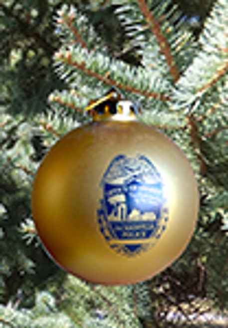 Jacksonvill Police Department Ornament, Gold
