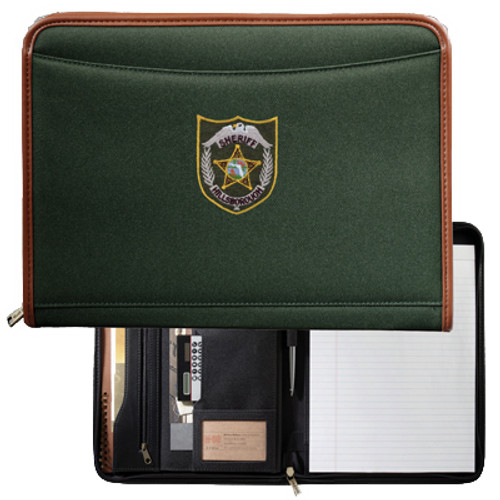 Hillsborough County Sheriff's Office Northwest Padfolio Green with Patch Design