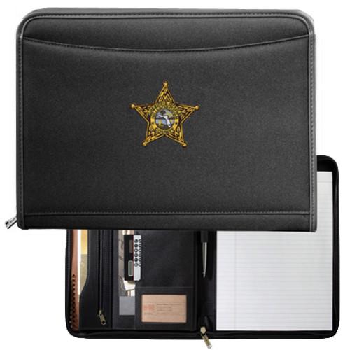 Hillsborough County Sheriff's Office Northwest Padfolio Black with Star Design