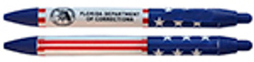 FLORIDA DEPARTMENT OF CORRECTIONS RED WHITE AND BLUE BALL POINT PEN
