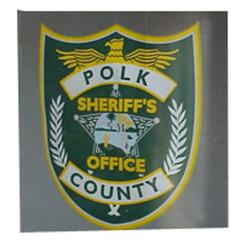 Polk County Sheriff's Office Decal with Adhesive Face