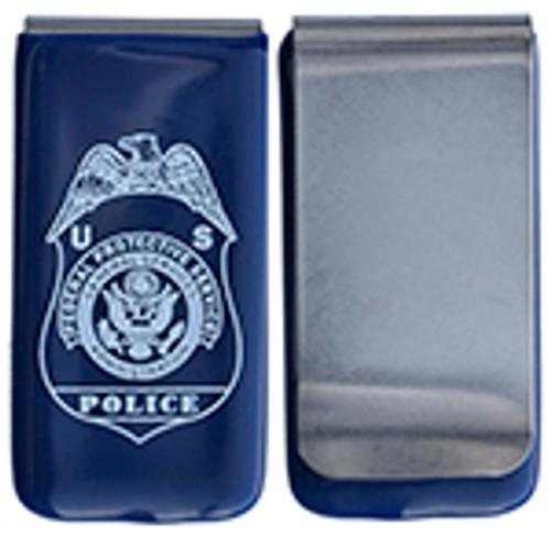 FEDERAL PROTECTIVE SERVICES MONEY CLIP, BLUE