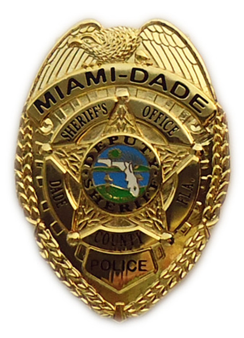 Miami-Dade Police Badge Money Clip Gold