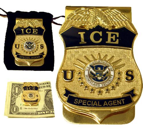 ICE Special Agent Badge Money Clip