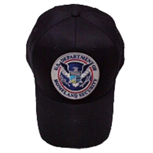 DHS Black Patch Hat