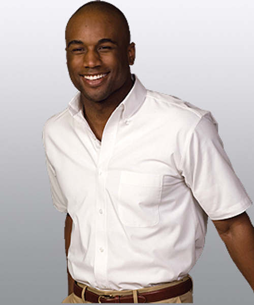 Men's Easy Care Poplin Short Sleeve Shirt
