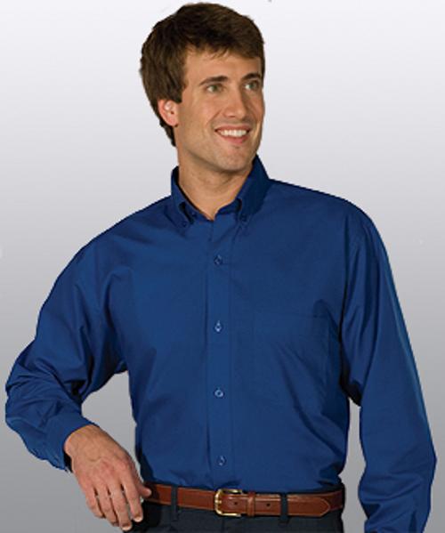 Men's Easy Care Poplin Long Sleeve Shirt