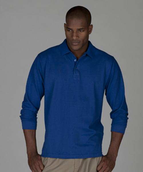 Men's Long Sleeve Pique Polo (no pocket)