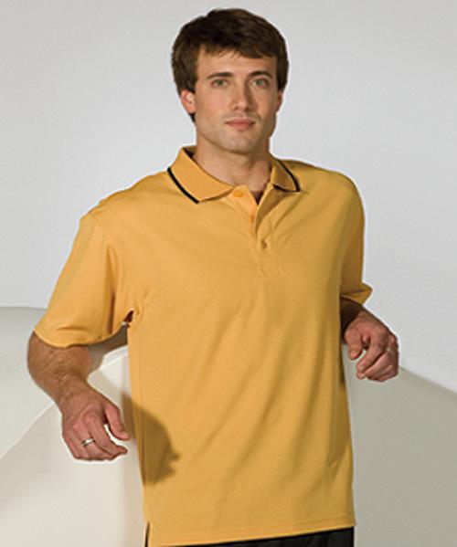 Men's Tipped Collar Dry-Mesh Hi-Performance Polo