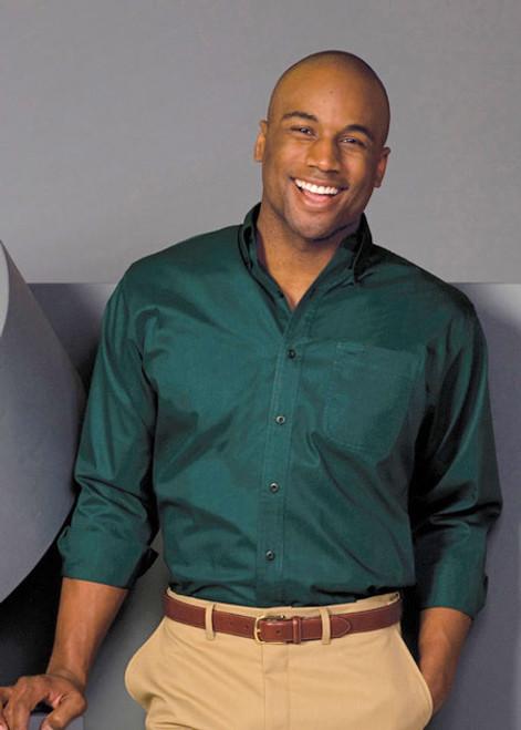 Mens Long-Sleeve Cotton Plus Twill Shirt