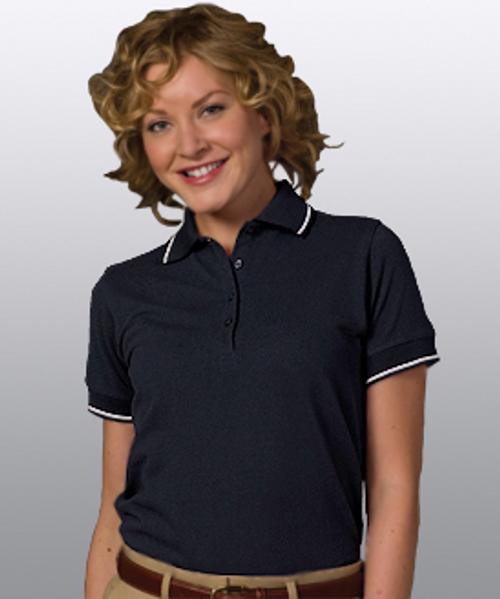 Women's Tipped Collar & Cuffs Polo