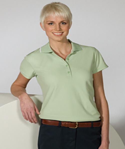 Women's Tipped Collar Dry-Mesh Hi-Performance Polo