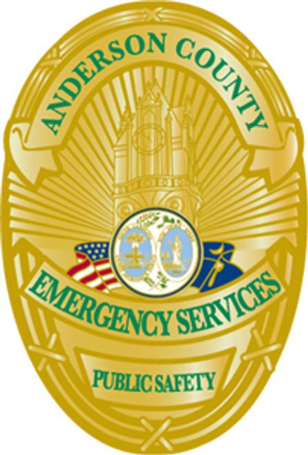 Anderson County Emergency Service Plaque