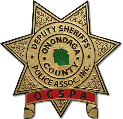 Onondaga County Deputy Sheriffs' Police Association Plaque