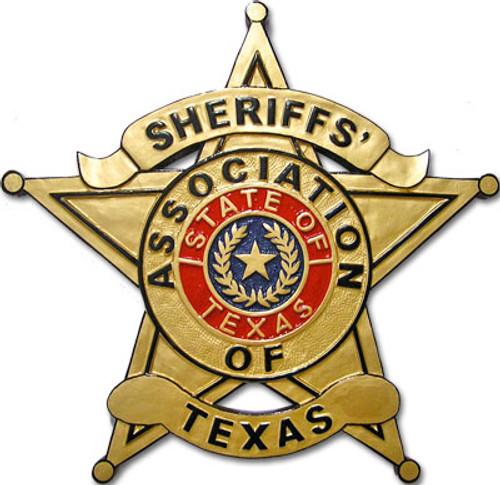 Sheriffs' Association of Texas Plaque - Red Seal Design