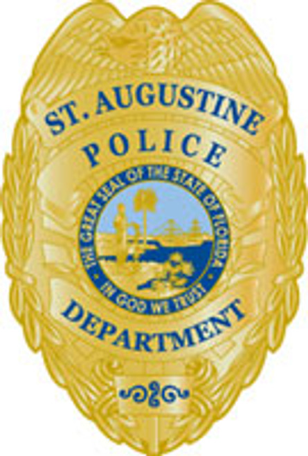 St. Augustine Police Gold Badge Plaque