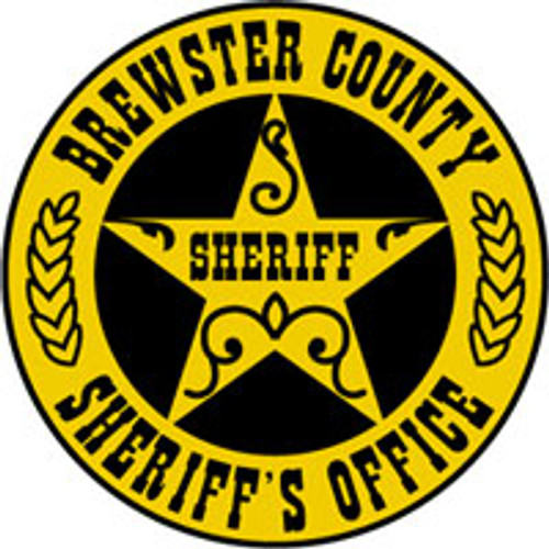 Brewster County Sheriff's Badge Plaque
