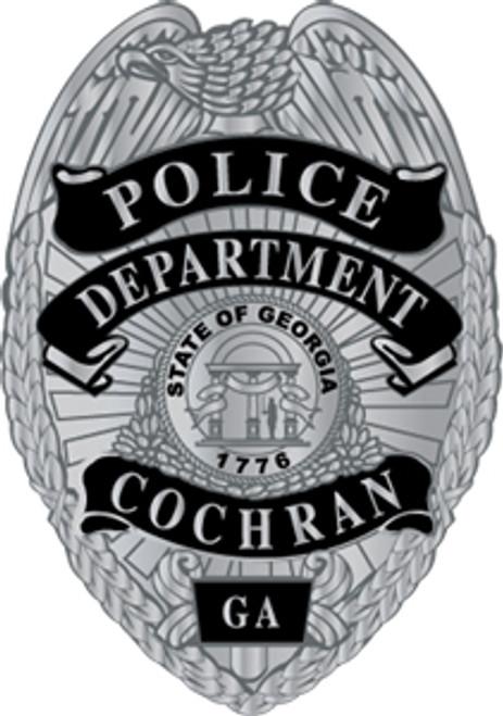 Cochran Police Badge Plaque Silver