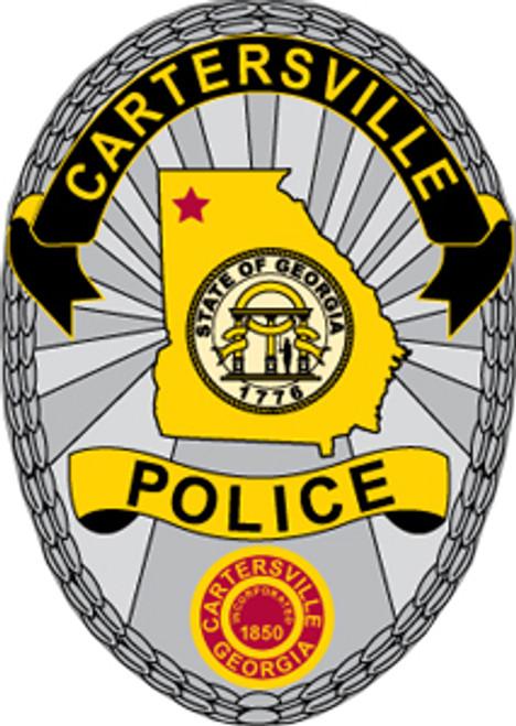 Cartersville Police Department Badge Plaque
