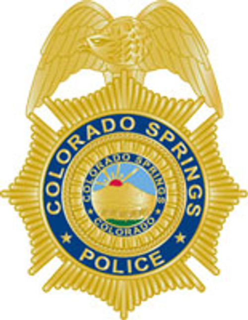 Colorado Springs Police Gold Badge Plaque