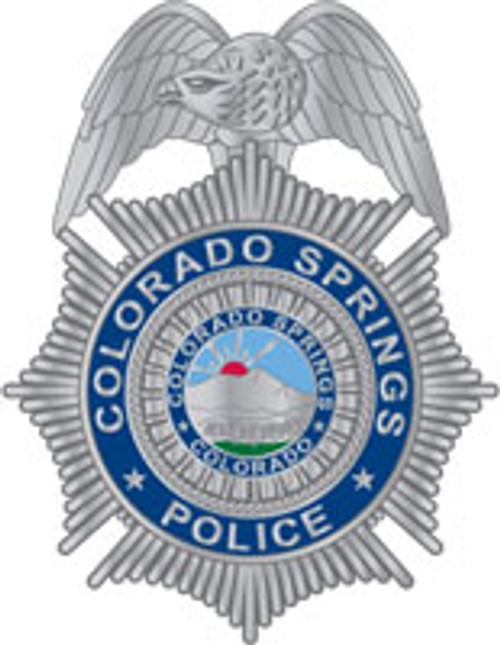 Colorado Springs Police Silver Badge Plaque