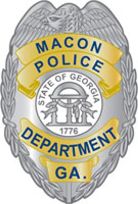 Macon Police Badge Plaque