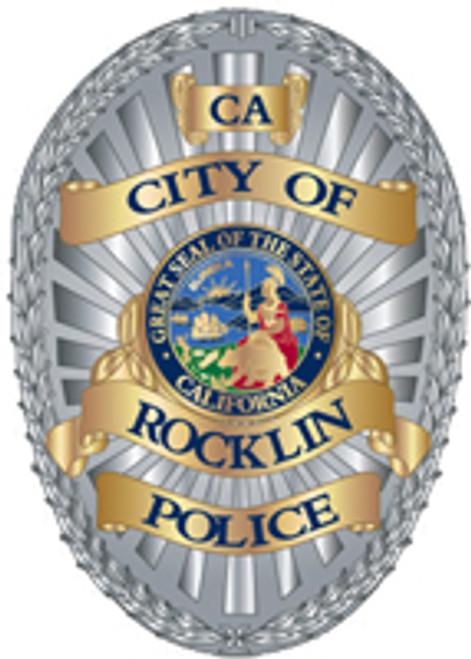 Rocklin Police Department Badge Plaque