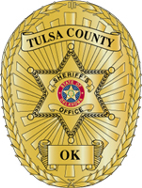 Tulsa County Sheriff's Badge Plaque