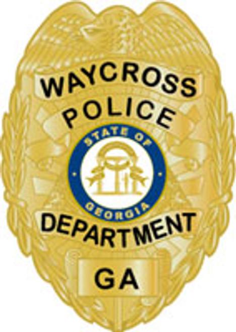 Waycross Police Department Badge Plaque