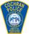 Cochran Police Patch Plaque