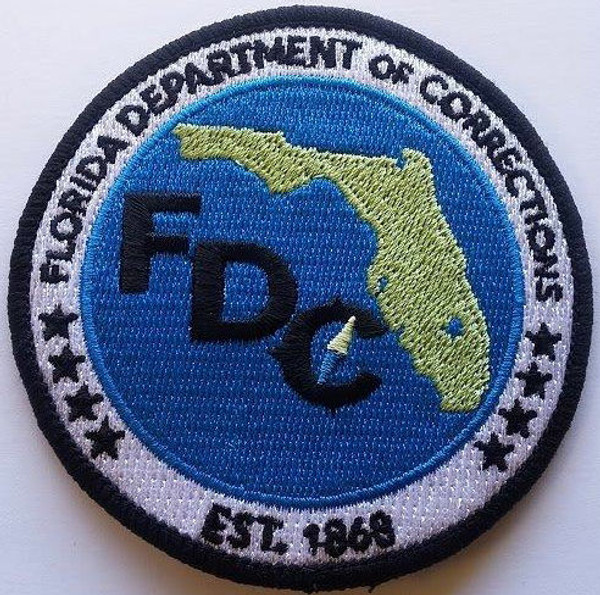 """Florida DOC 3"""" Patch - New 2016"""