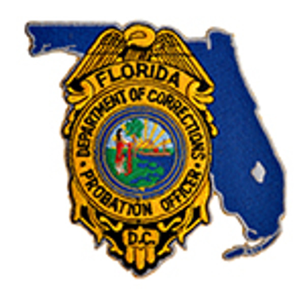 """Florida Department Of Corrections Instructor  4"""" Patch"""