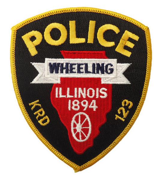 Illinois Wheeling Police Shield Patch